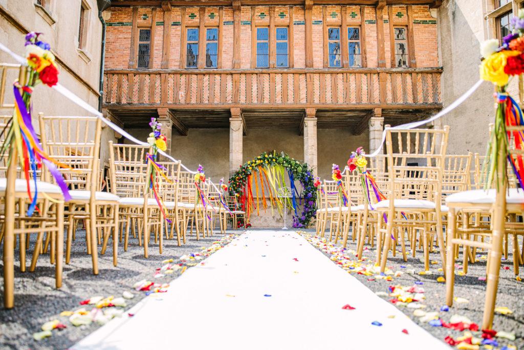 fleurs mariage coloré organisation mariage lyon