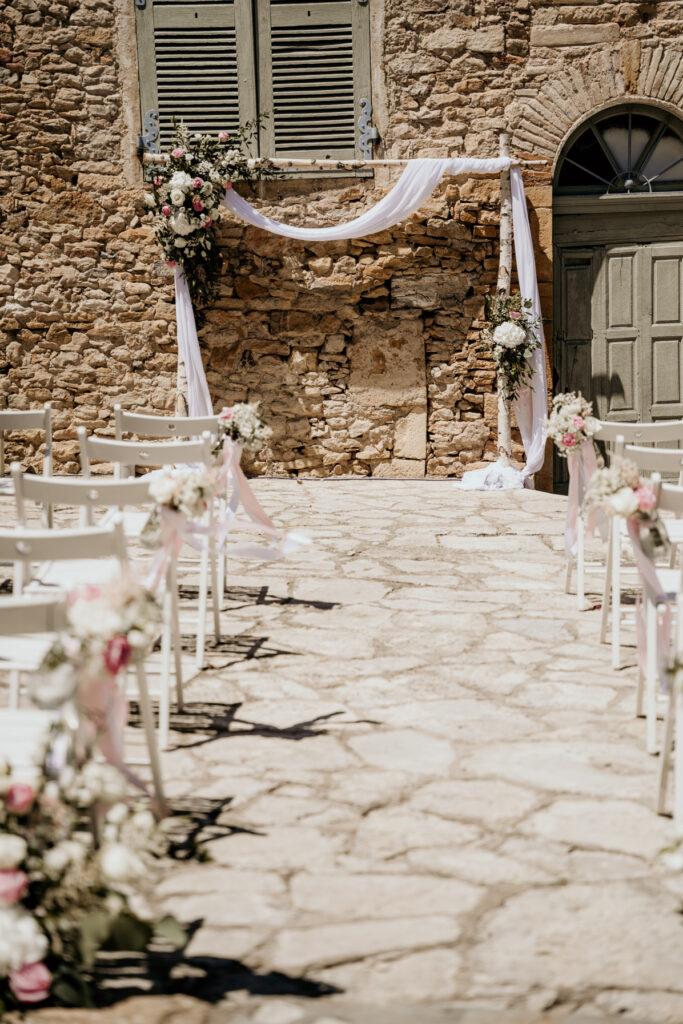 wedding planner lyon  d day organisation mariage cérémonie laique arche en bois rose