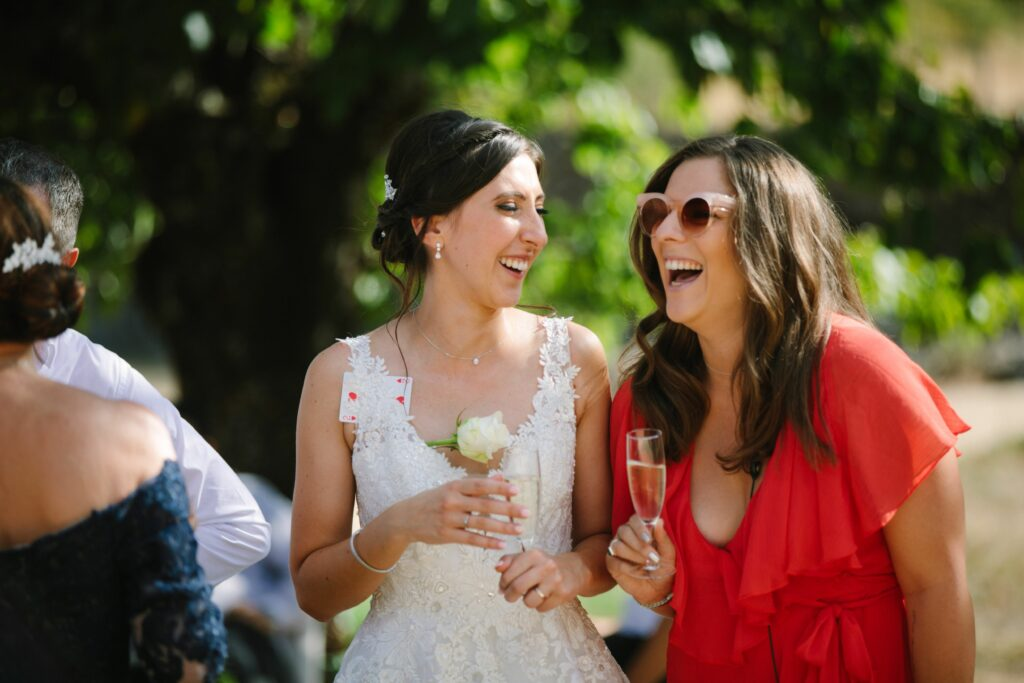 wedding planner beaujolais red dress