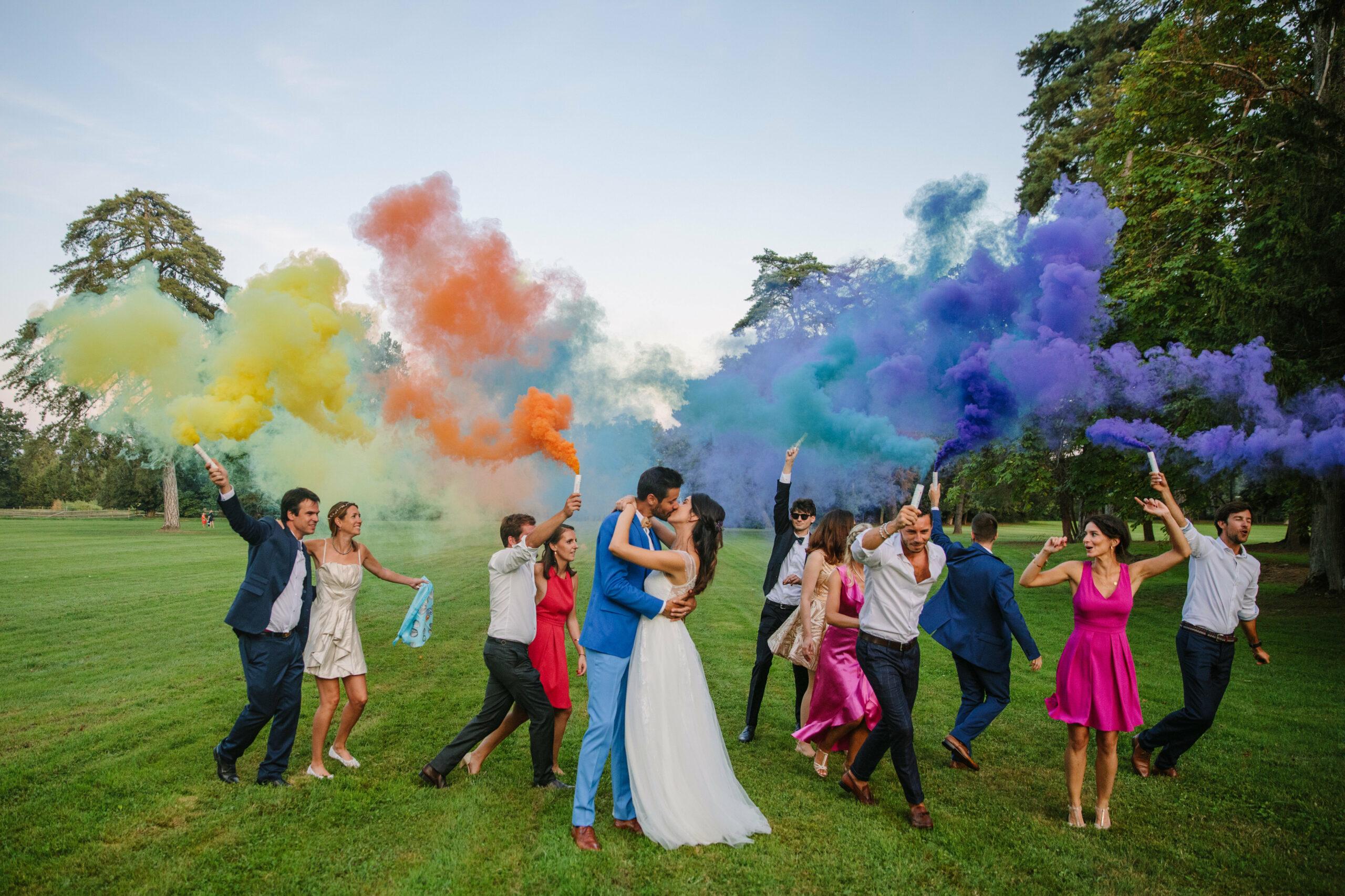 photo de groupe mariage beaujolais organisation dday