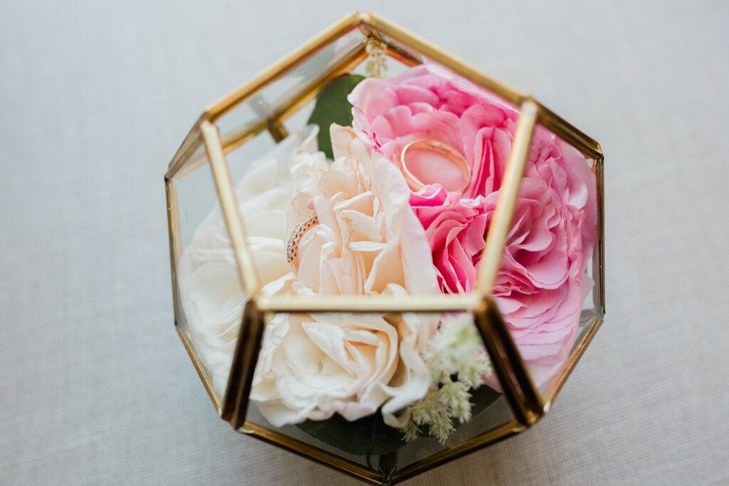 decoration maraige rose et doré