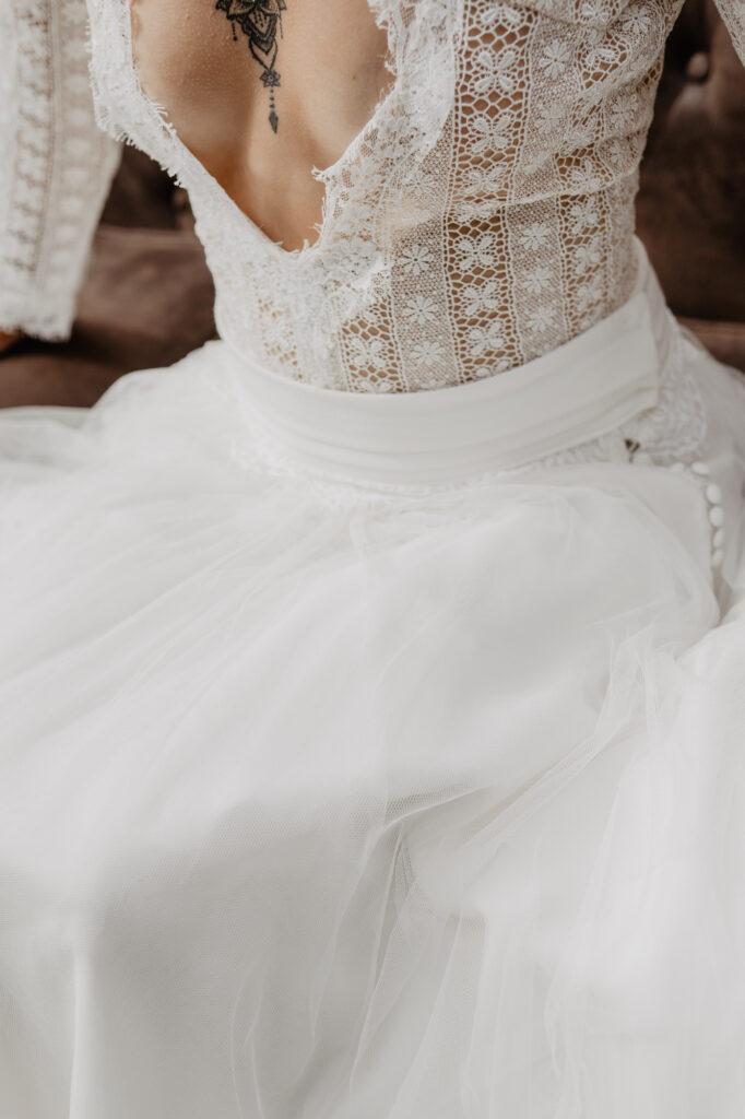 décolleté robe de mariée créatrice