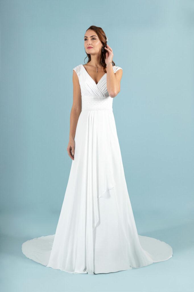 essayage robe mariée fluide en sarthe