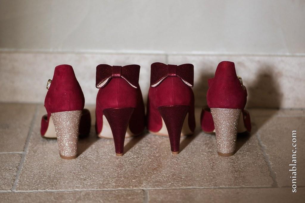 D Day Wedding Planner La Rochelle Wedding Planner Charente-Maritime Chaussures de mariée chaussure de mariage wedding shoes shoes addict talons paillettes noeud framboise or brillant
