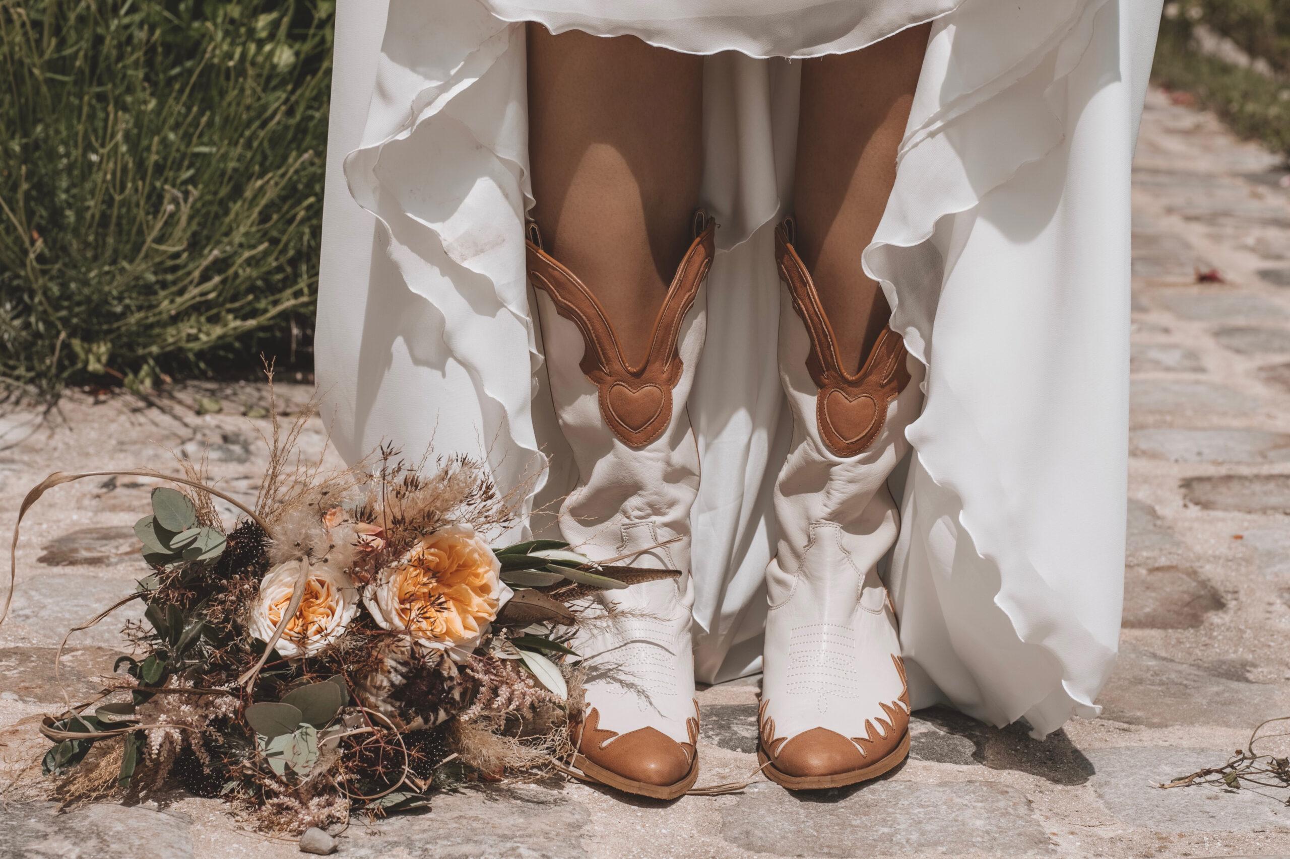 D Day Wedding Planner La Rochelle Wedding Planner Charente-Maritime Chaussure de mariée Chaussures de mariage wedding shoes santiags bottes
